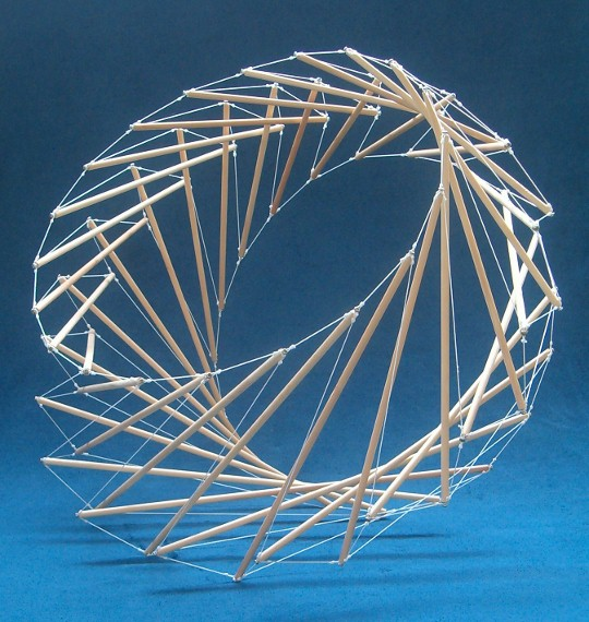 Tensegrity signet ring or ribcage
