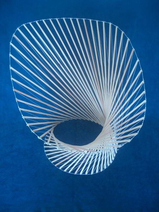 how to make a tensegrity spine model